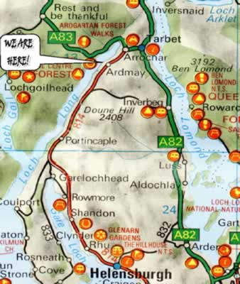 where to find us map of Lomond Spas business